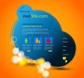 Diseño del modelo del Web page Fotografía de archivo libre de regalías