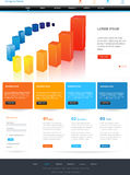 Diseño del modelo del Web site Fotos de archivo