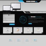 Diseño del modelo del Web site Imágenes de archivo libres de regalías