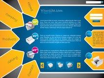 Diseño del modelo del Web site con las escrituras de la etiqueta y las etiquetas engomadas Imagenes de archivo