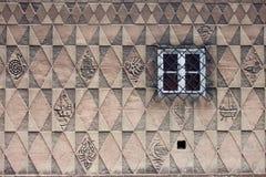 Diseño del modelo en la pared de la casa Foto de archivo libre de regalías