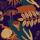 Diseño del modelo del otoño Ilustración del vector Foto de archivo libre de regalías