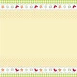Diseño del modelo para la tarjeta de felicitación Imagen de archivo libre de regalías