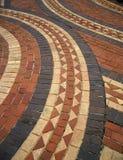 Diseño del mosaico en calzada del ladrillo Fotos de archivo libres de regalías