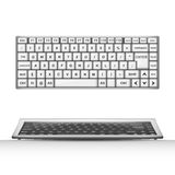 Diseño del objeto 3D del teclado Foto de archivo libre de regalías