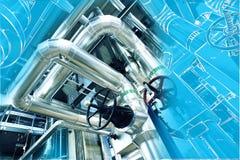 Diseño del ordenador cad de tuberías Fotografía de archivo