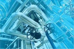 Diseño del ordenador cad de tuberías Fotografía de archivo libre de regalías