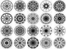 diseño del ornamento del círculo stock de ilustración