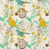 Diseño del pájaro y de la fruta Imágenes de archivo libres de regalías