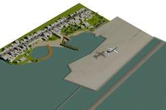 Diseño del paisaje stock de ilustración
