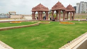 Diseño del paisaje de la hierba de templo Foto de archivo libre de regalías