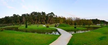 Diseño del paisaje del jardín Foto de archivo libre de regalías