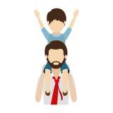 Diseño del papá y del hijo stock de ilustración