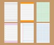 Diseño del papel de nota del vector Fotos de archivo