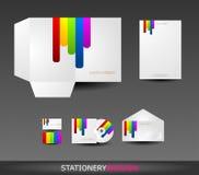 Diseño del papel fijado en formato del vector Imagen de archivo libre de regalías