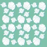 Diseño del papel pintado con las flores a mano Fotografía de archivo libre de regalías