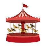 Diseño del parque temático stock de ilustración