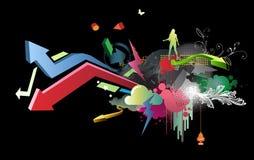 Diseño del partido Imagenes de archivo