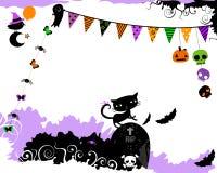 Diseño del partido de Halloween Imagen de archivo libre de regalías