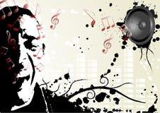 Diseño del partido de la música Imagenes de archivo