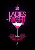 Diseño del partido de la noche de las señoras. Fotografía de archivo libre de regalías
