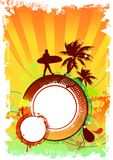 Diseño del partido de la playa Foto de archivo