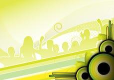 Diseño del Partido Verde Fotografía de archivo