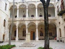 Diseño del patio en Alepo en Siria imagen de archivo libre de regalías
