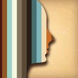 Diseño del perfil Imagen de archivo