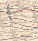 Diseño del pez volador Imagen de archivo