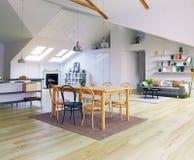 Diseño del piso del ático Fotografía de archivo libre de regalías