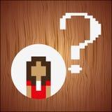 diseño del pixel de la persona del avatar Foto de archivo