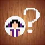 diseño del pixel de la persona del avatar Imágenes de archivo libres de regalías