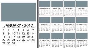 Diseño del planificador del calendario Fotos de archivo