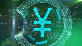 Diseño del plexo de los yenes, símbolo en línea del dinero de la moneda electrónica, mercados de acción comerciales libre illustration