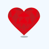 Diseño del polígono del amor stock de ilustración