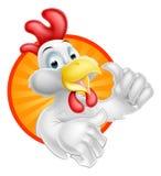 Diseño del pollo de la historieta ilustración del vector