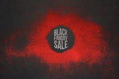 Diseño del promo de la venta de Black Friday para Polygraphy Foto de archivo