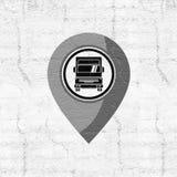 Diseño del punto de la ubicación del camión Foto de archivo
