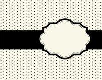 Diseño del punto de polca con el marco Imagenes de archivo