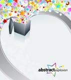 Diseño del rectángulo de la sorpresa Foto de archivo