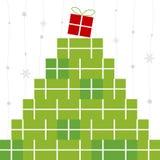 Diseño del rectángulo de regalo Foto de archivo