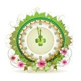 Diseño del reloj Imágenes de archivo libres de regalías