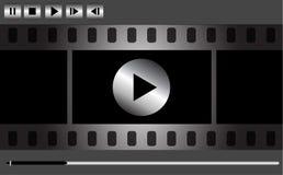 Diseño del reproductor multimedia del vector Imagenes de archivo