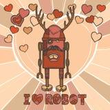 Diseño del robot del inconformista ilustración del vector