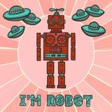 Diseño del robot del inconformista Foto de archivo