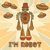 Diseño del robot del inconformista Fotografía de archivo