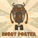 Diseño del robot del inconformista stock de ilustración