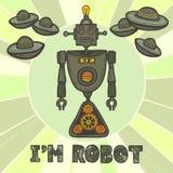 Diseño del robot del inconformista Imágenes de archivo libres de regalías
