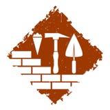 Diseño del símbolo de la construcción Fotos de archivo libres de regalías